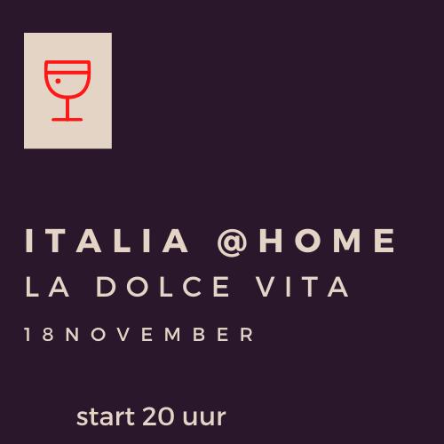 italiaanse wijnavond